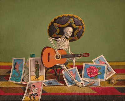 Day of the Dead Guitar Print