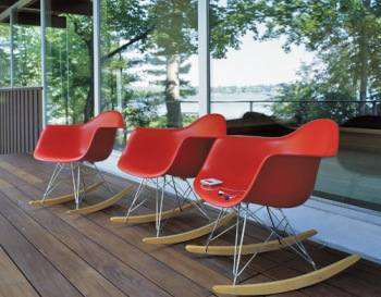 Eames red rocking chair