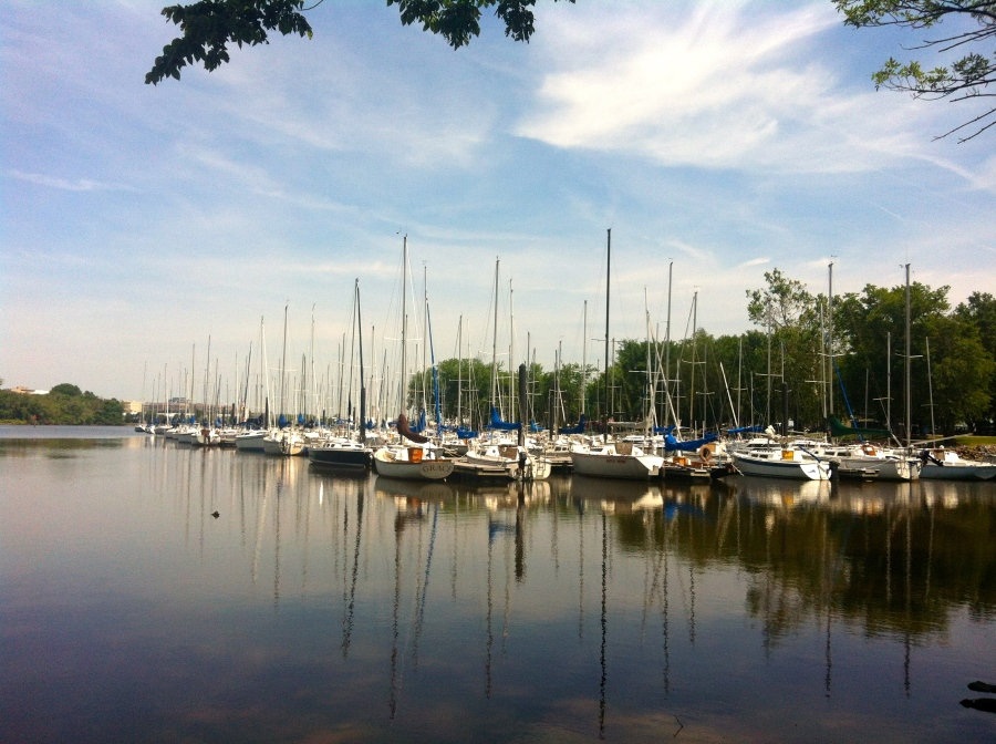 Boats docked at Dangerfield Marina - a nice 1.5 mile run from Old Town.